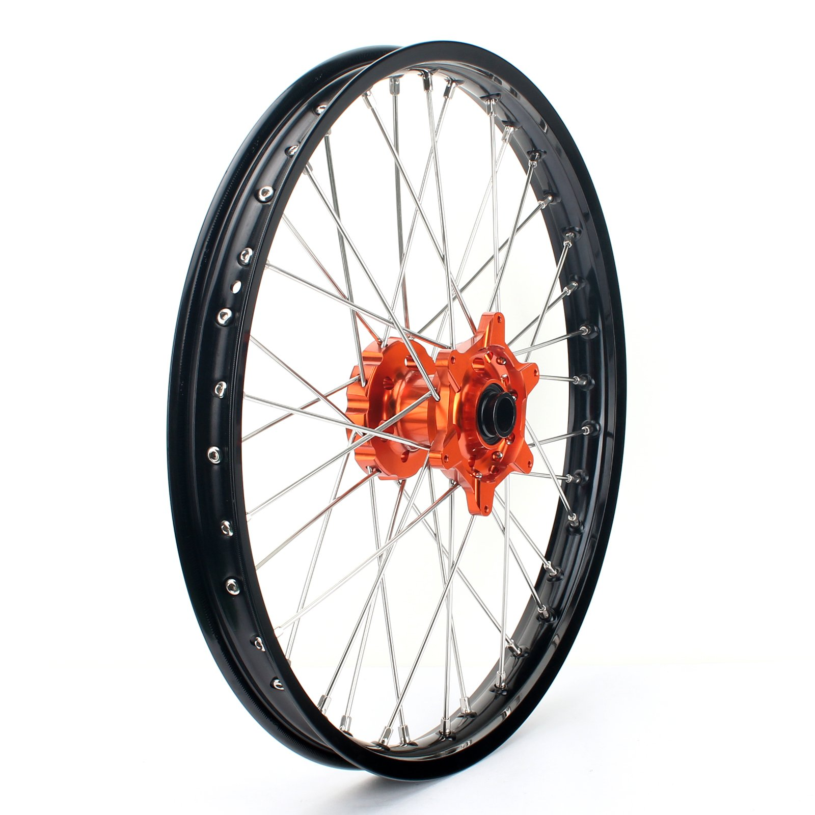 TARAZON 21'' MX Front Wheel Kit Rim Orange Hub Spokes for KTM SX 125 150 250 XC XC-F 250 XC EXC-F SX-F 300 350 450 2015 2016 With 22mm axle spacers