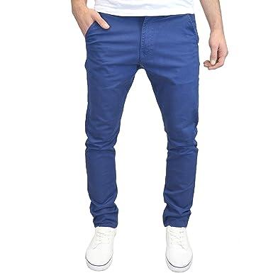 51e5f3a2 Enzo Mens Slim Fit Stretch Chino Trousers