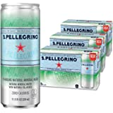 S.Pellegrino Sparkling Natural Mineral Water, 11.2 Fl Oz. Cans (3 Pack of 8)