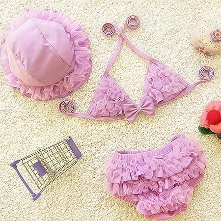 LTQ&Qing Bikini Traje De Baño Infantil, Niñas Lindo Traje De ...