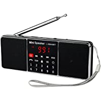 Retekess Portable AM FM Stereo Radio with Wireless Rechargeable MP3 Player Speakers AUX Input and LCD Display(Black)