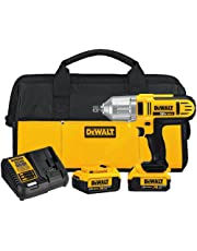 DEWALT DCF889M2 20-volt Max Lithium Ion 1/2-Inch High Torque Impact Wrench with Detent Pin, Yellow