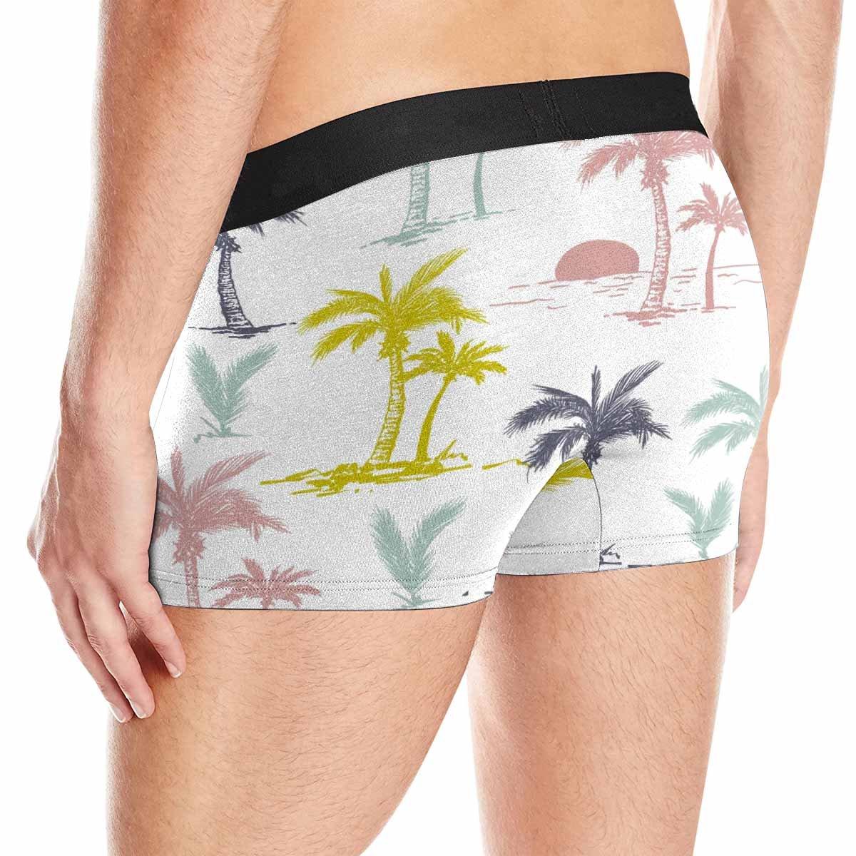 XS-3XL INTERESTPRINT Mens Boxer Briefs Underwear Palm Trees