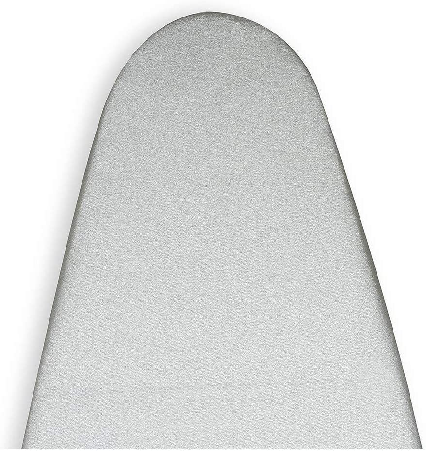 ENCASA Homes Metallised Ironing Board Cover 'Silver Super Luxury' with Foam + Felt PAD (Fits Medium Boards 14 x 42 inch) Heat Reflective, Scorch Resistant, Bungee Elasticated, 3 Fasteners