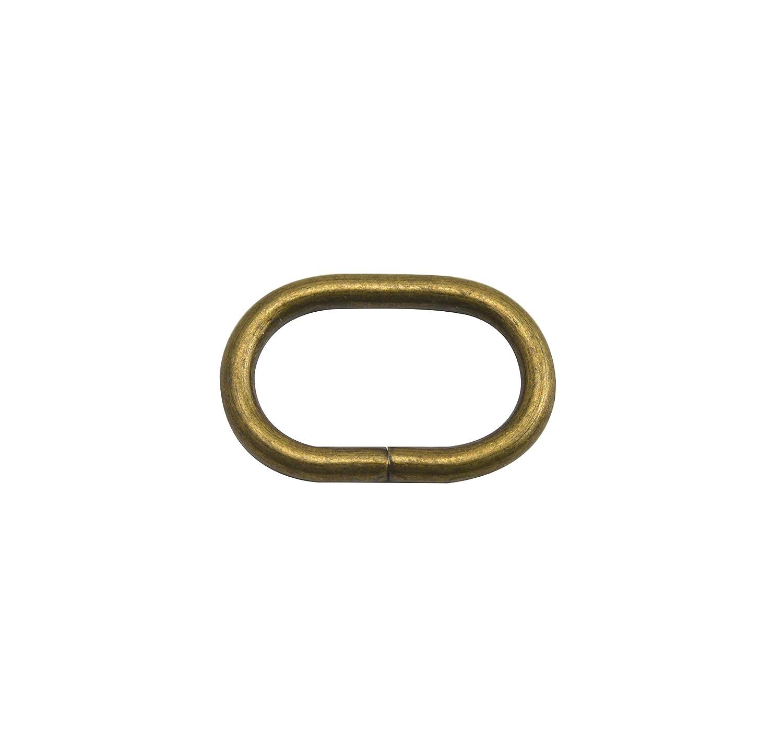 Wuuycoky bronzo ovale a forma di anello cinghia della borsa fibbia ad anello, Inner length:0.8',Inner width:0.5',20Pcs Inner length:0.8 Inner width:0.5