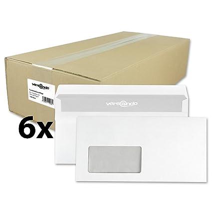 Versando - 6000 Sobres para cartas con ventana formato DIN-L ...
