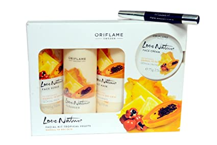 81529c79c8 Image Unavailable. Image not available for. Colour: Oriflame New Love  Nature Facial Kit Tropical Fruit ...