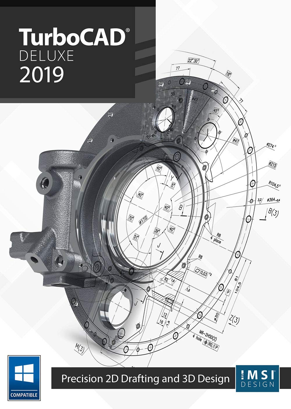 TurboCAD 2019 Deluxe [PC Download] by IMSI Design, LLC.