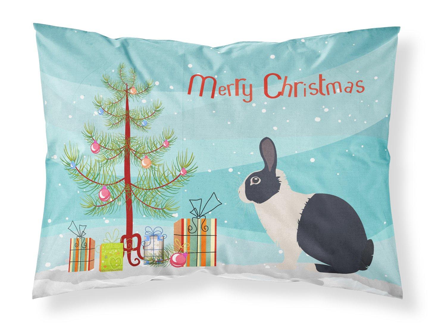 Caroline 's Treasures Dutch Rabbitクリスマス枕カバー、標準、マルチカラー B078T37F9P