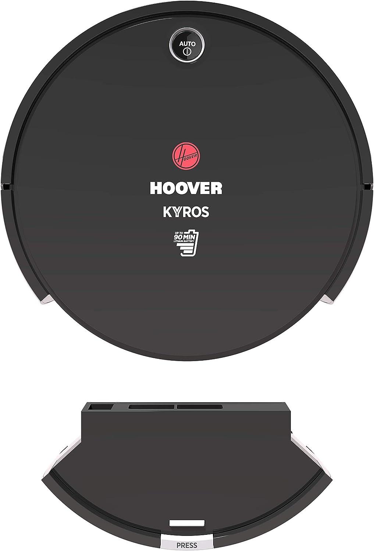 Hoover RBT001 Aspirateur Robot Slim Kyros D/étecteur de poussi/ères 90Min dautonomie Silencieux 65DBA