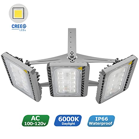 amazon com led flood light stasun 150w super bright led security