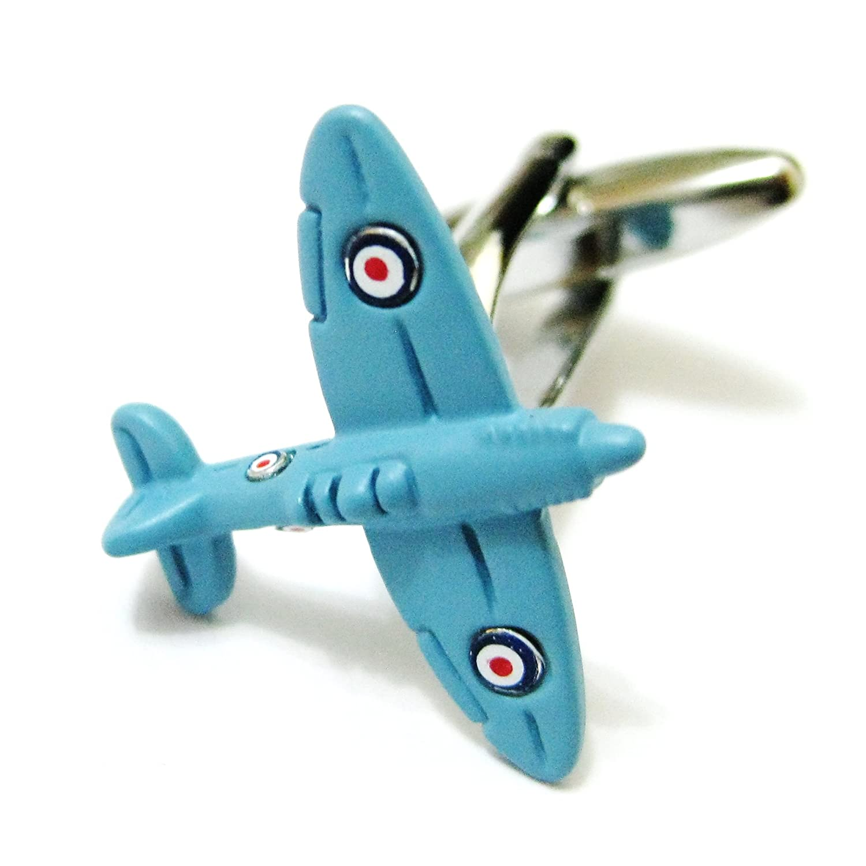 Tailor B 3D Army Blue Supermarine Spitfire Cufflinks Aviation Cuff Links