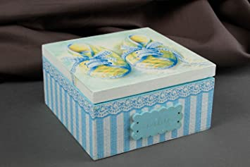 Caja para joyas artesanal para hogar accesorio para mujer regalo original: Amazon.es: Hogar
