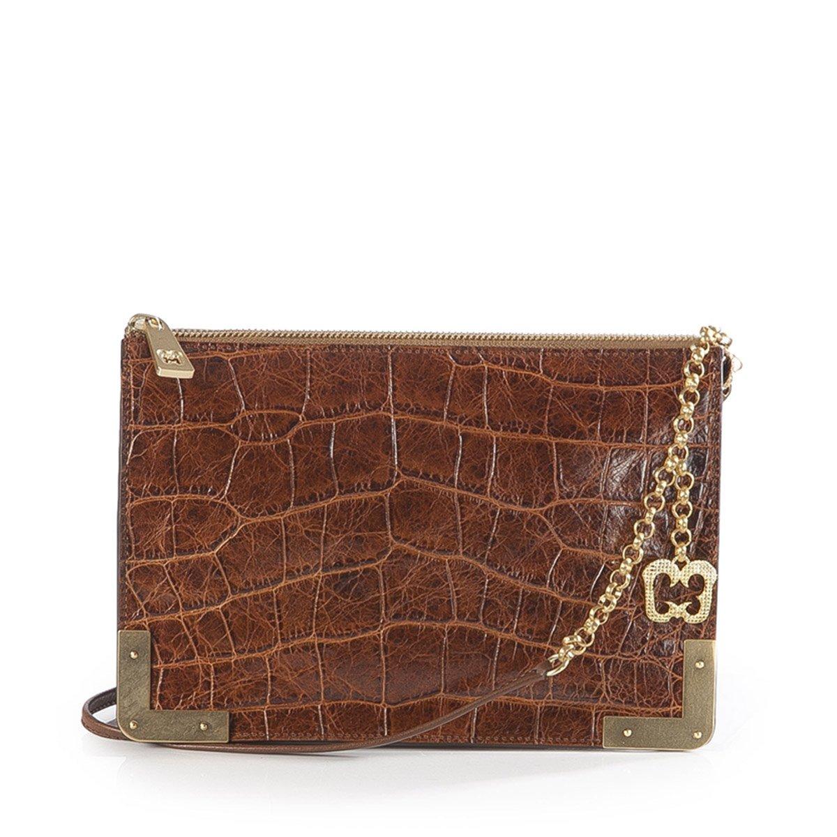 Eric Javits Luxury Fashion Designer Women's Handbag - Perkins II - Burnt