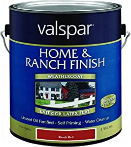Valspar 18-5221-10 BPS Exterior Latex Home & Ranch Paint, Red