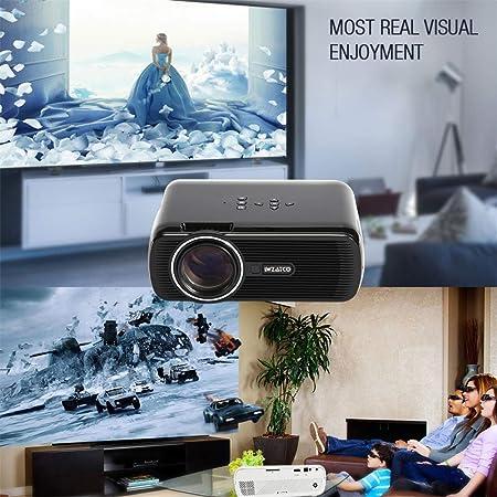 Proyector WiFi Bluetooth V4.0 Proyector de Cine en casa 1080P HD ...