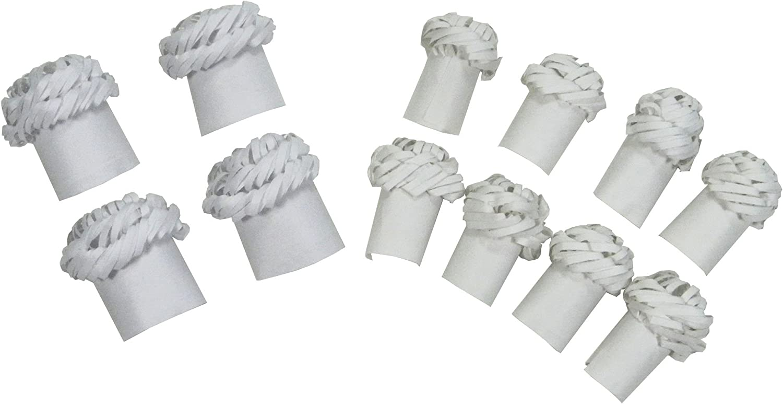 Regency Wraps Chop Frills Decorative Holders for Chops and Chicken Legs, 4 Chicken Frills and 8Chops Frills