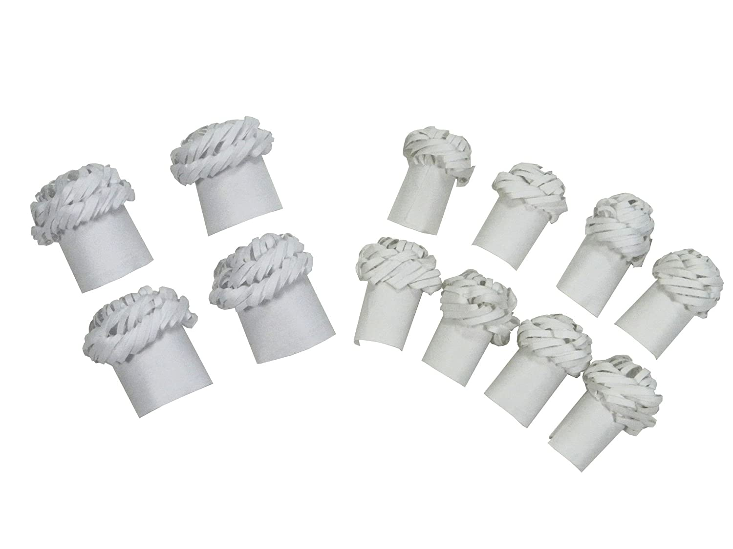 Regency Wraps Chop Frills Decorative Holders for Chops and Chicken Legs, 4 Chicken Frills and 8 Chops Frills RW1550