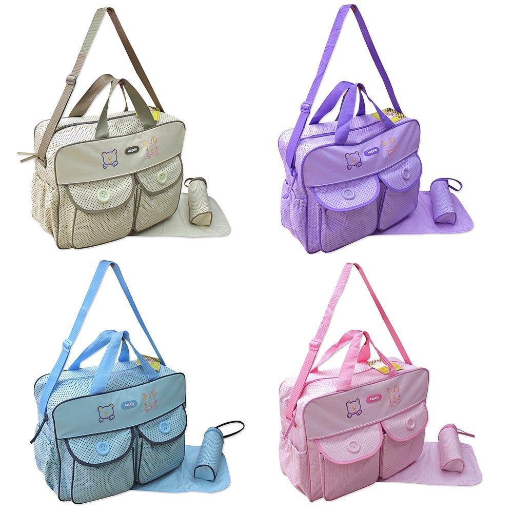 Bolsa Cambiador para Beb/é XXL con 3 Art/ículos Color Beis Bolsa para Cuidados del Beb/é Bolso de Viaje Selecci/ón de Colores