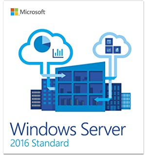 Amazon com: Windows Server Standard 2016, 64-Bit, 16-Core