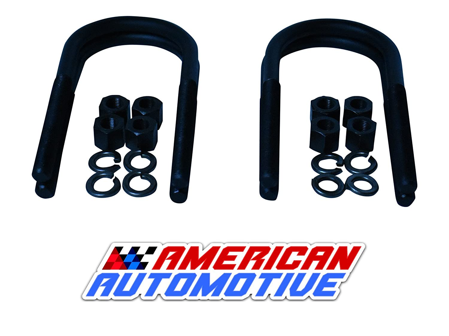 Jeep Cherokee XJ Rear Suspension Lift U Bolts 4PCS 6.5' 8.25 Axle 3' Inch Wide OEM Material American Automotive