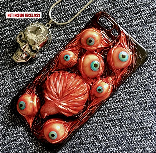 iPhone 6s Plus Case, SHEROX Handmade Horror Fangs Tongue Bloody Eyes Ball Hard Cover Case for iPhone 6/ 6s Plus 5.5 inch (Fangs Tongue Eyes)