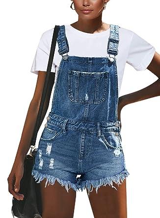 581eb5b1b3 luvamia Women's Mid Rise Shorts Frayed Raw Hem Ripped Denim Jean Shorts at  Amazon Women's Clothing store: