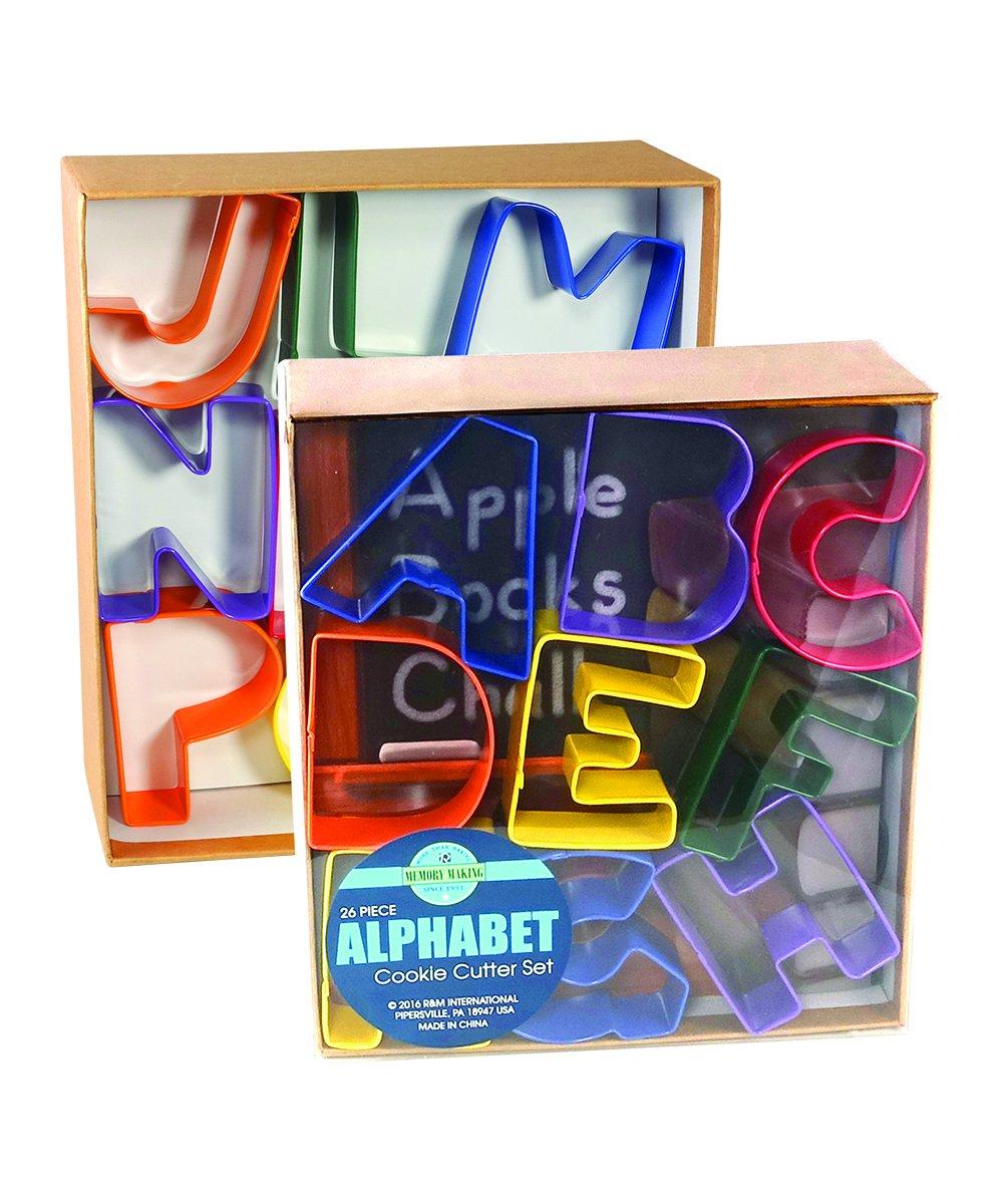 R&M International 1800 Alphabet 3'' Cookie Cutters, Assorted Colors, 26-Piece Set