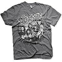 Aerosmith - Bad Boys from Boston Official Mens T-Shirt (Dark Grey)