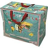 Grand sac de rangement Jumbo Bag Carte du monde Earth