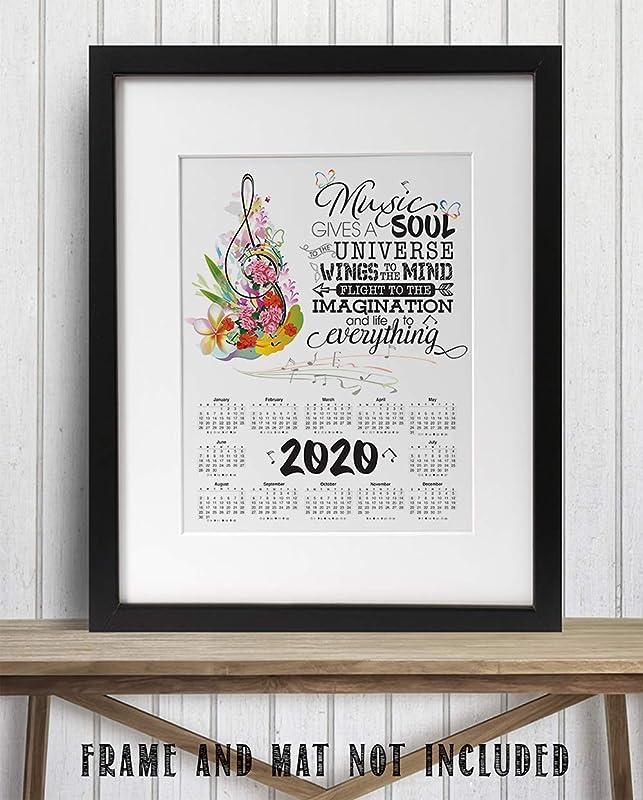 2020 Calendar 11x14 Unframed Calendar Art Music Gives A Soul To The Universe