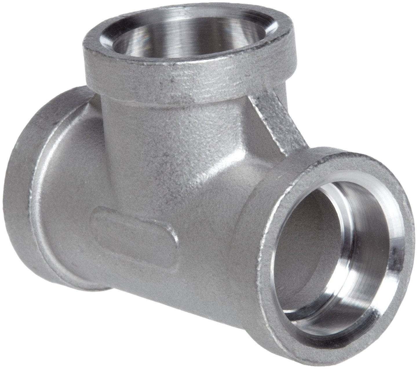 1//2 Female Stainless Steel 316 Cast Pipe Fitting MSS SP-114 Tee Socket Weld