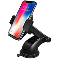 Car Phone Holder,Beikell Car Phone Mount Cradle - Phone Holder for Car with One Button Release and Strong Sticky Gel Pad for iPhone X/ 8/ 7/ 7 Plus/ 6S/ 6s Plus/ 6/ 5S/ 5C, Samsung Galaxy S7 S6 Note 5/ 4, Huawei and More