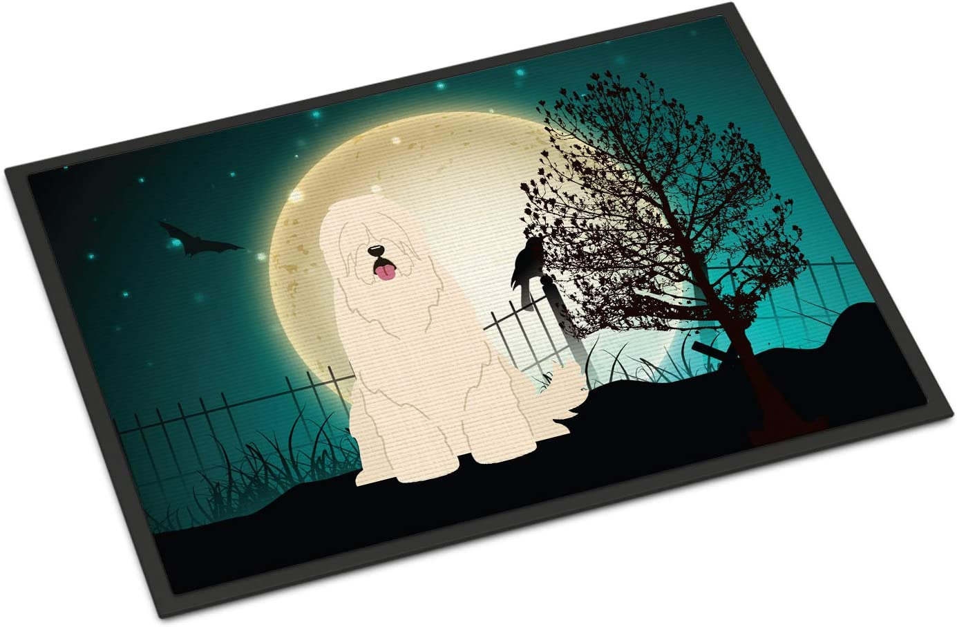 Caroline s Treasures BB2214JMAT Halloween Scary South Russian Sheepdog Indoor or Outdoor Mat 24×36, 24H X 36W, Multicolor
