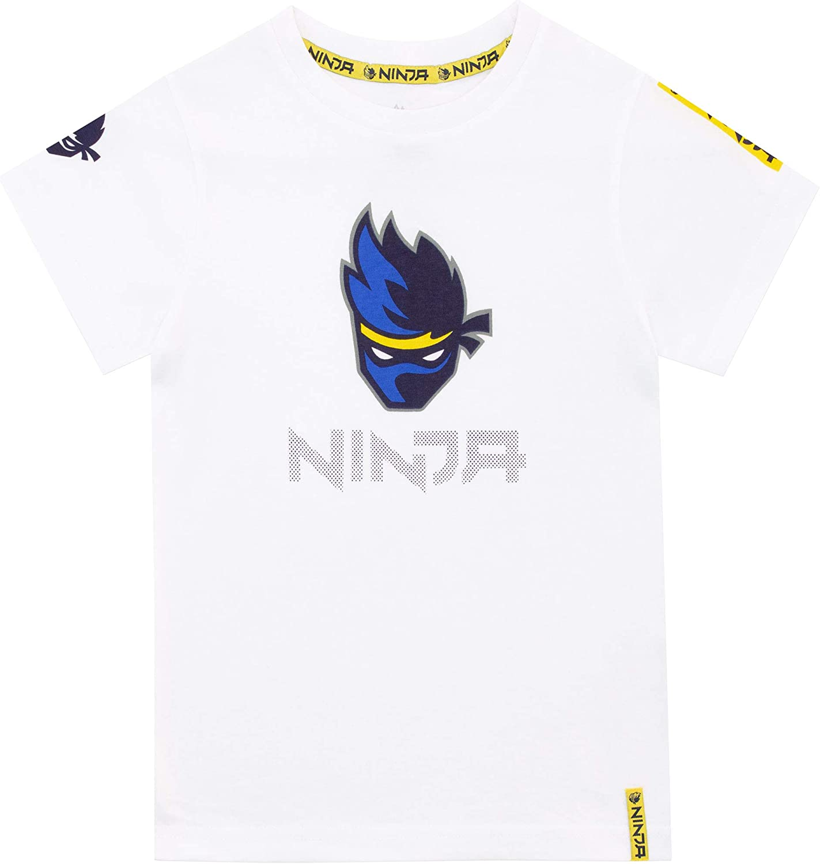 Ninja Camiseta de Manga Corta para niños Blanco 5-6 Años: Amazon.es: Ropa y accesorios