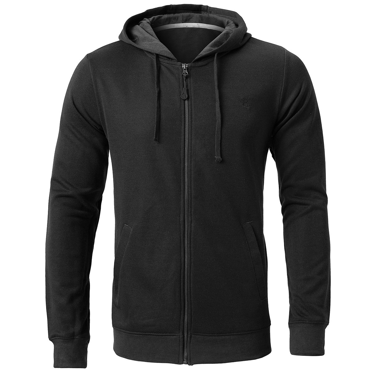 INFLATION Men's Zip-up Hoodie Long Sleeve French Terry Lightweight Basic Zip-up Hoodie Jacket 8 Color Choices
