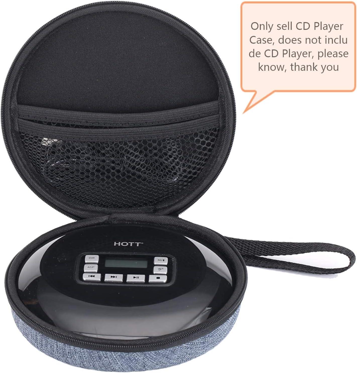 Lecteur de disques compacts Personnel avec Casque Protection Anti-Renversement Lecteurs de Musique MP3 Walkman avec afficheur LCD pour Adultes /Étudiants Enfants Lecteur de CD Portable