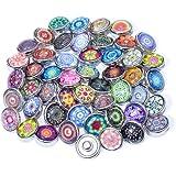 Soleebee click-button aluminium verre 12mm pression boutons femme Un groupe de 30 - exotique