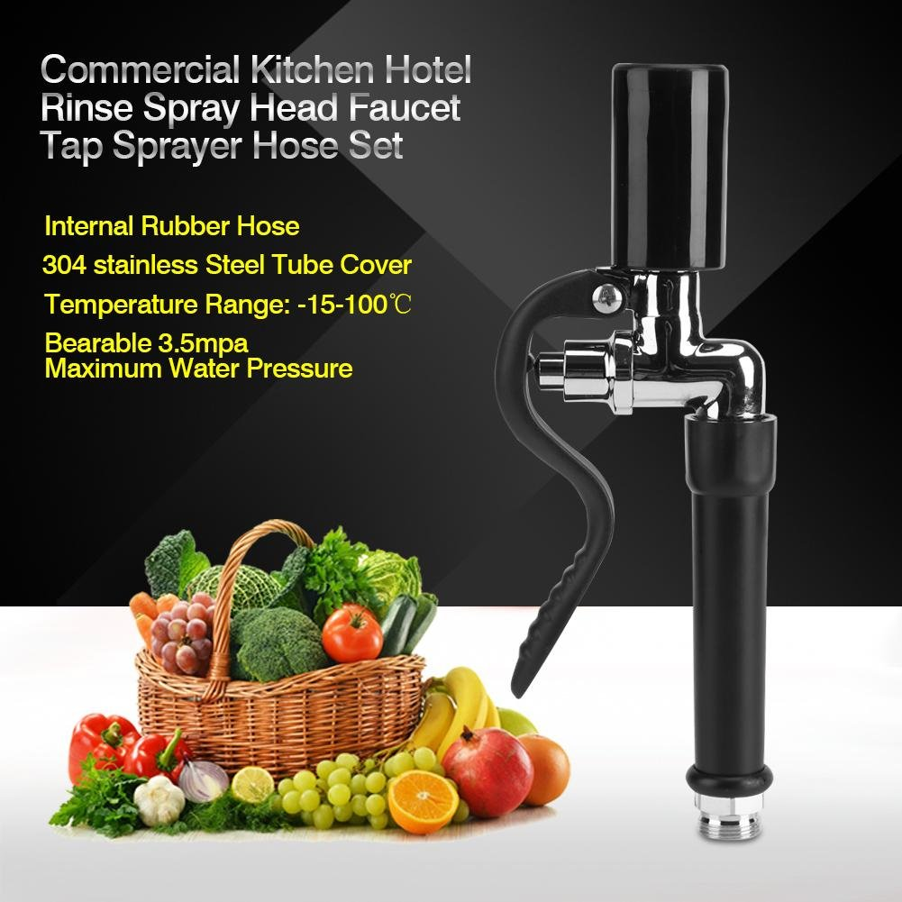 Spray Hose for Dishwasher Rinse Hose for Sink Kitchen Sink Faucet Kit Stainless Steel Pull Out Kitchen Faucet with Pre Rinse Tap Sprayer and High Pressure Flexible Hose for Commercial Kitchen Hotel by GLOGLOW (Image #2)