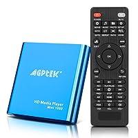 AGPTEK HD Media Player, Mini 1080p Full-HD Ultra HDMI Digital Media Player for -MKV/RM- HDD USB Drives and SD Cards (Blue)…