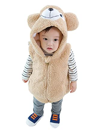 cd08015d1f82a くまさん着ぐるみベスト パーカー 男の子 女の子 赤ちゃん (100cm
