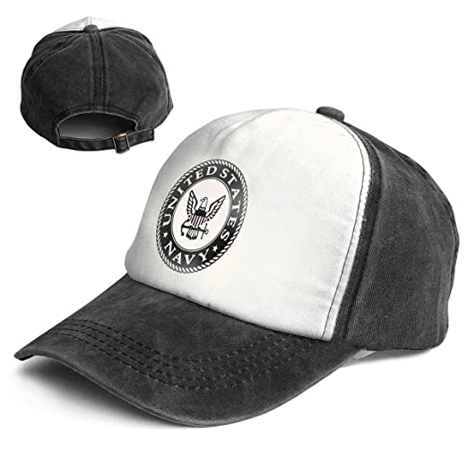 111cab045a3fc7 US Navy Classic Unisex Washed Twill Cotton Baseball Cap Vintage ...