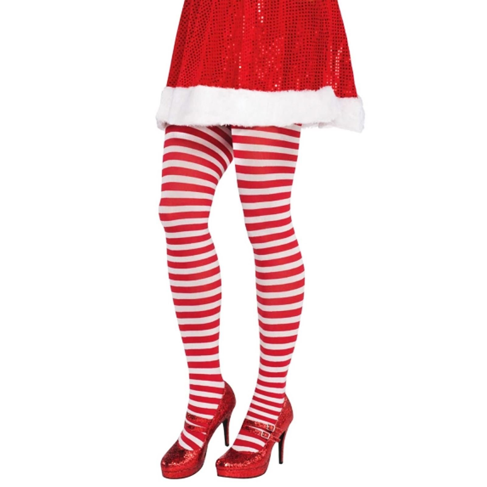 Ladies Christmas Stockings Adults Elf Santa Fancy Dress Xmas Womens Accessory