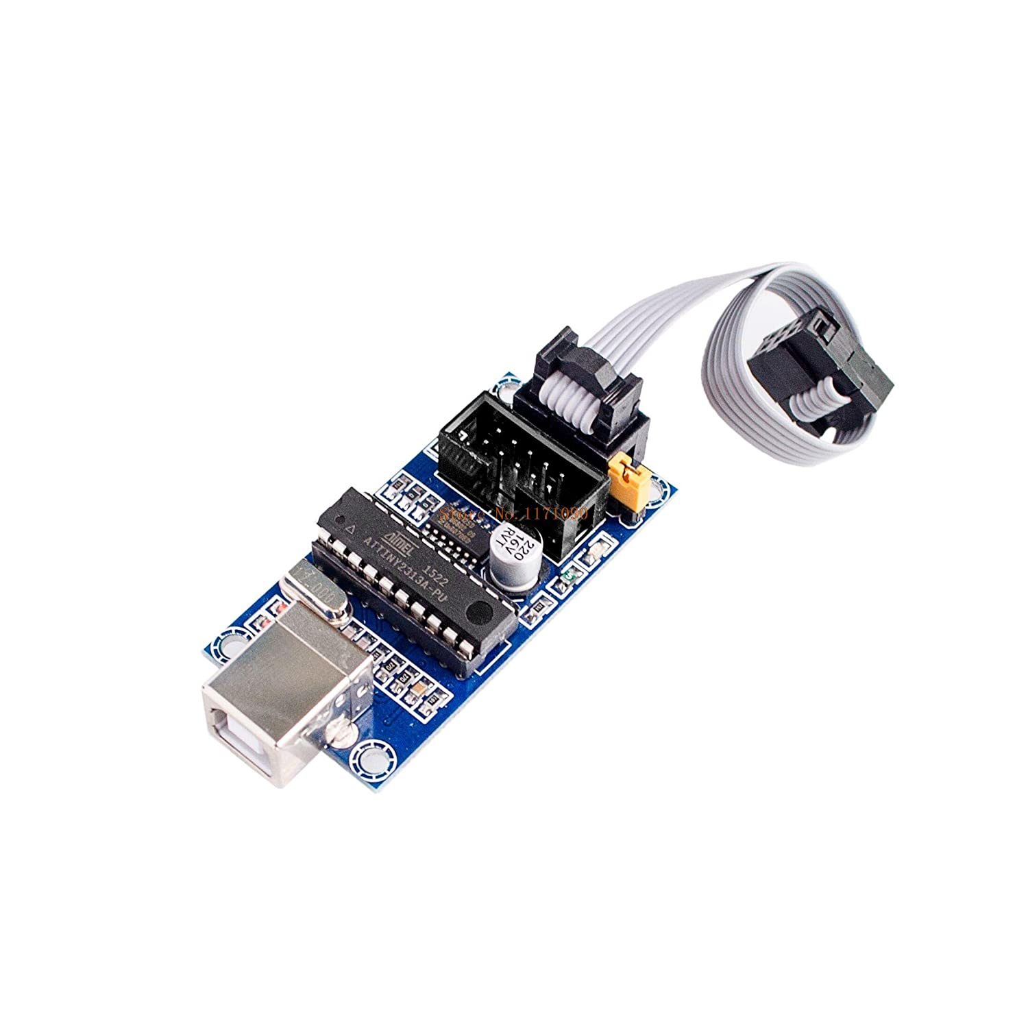LIGHTHINKING 5pcs//lot AVR microcontroller Download USBtinyISP Download Manager Dedicated USB Interface Cable for arduino