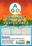 AGO フォニックス 教室用ポスター 3レベル セット 英語