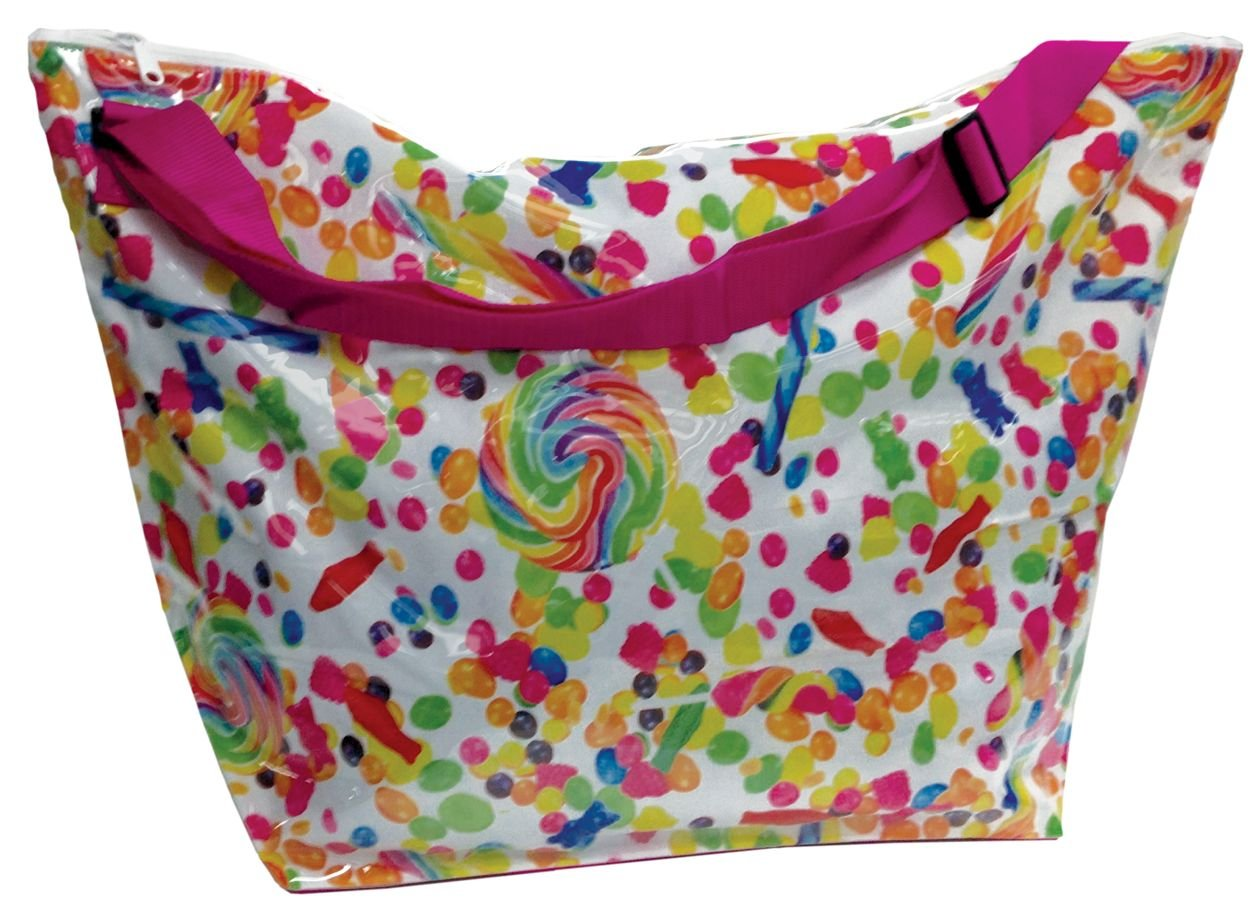 iscream Candy Collage Weekender 23.5 x 16 x 9 Travel Tote Bag with Adjustable Strap