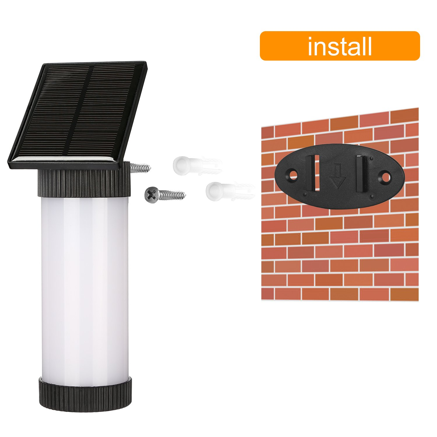 Guaiboshi Flame Lamp Luz al Aire libre Impermeable IP65 LED Lámpara Solar (2PACK)