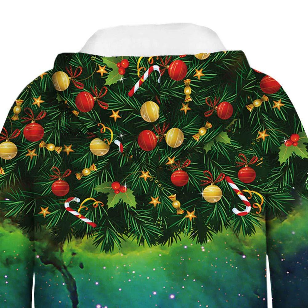 FEOYA Teen Boys Girls Galaxy Hoodies 3D Print Graphic Sweatshirts Unisex Kids Sweaters