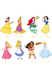 decalmile Princess Wall Stickers Girls Wall Decals Baby Nursery Kids Bedroom Wall Decor