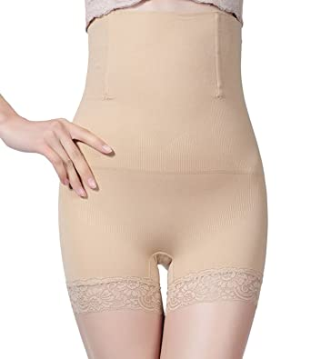 01502b4405853 Womens Shapewear Tummy Control Panties Seamless Thigh Slimming Body Shaper  Beige XL XXL